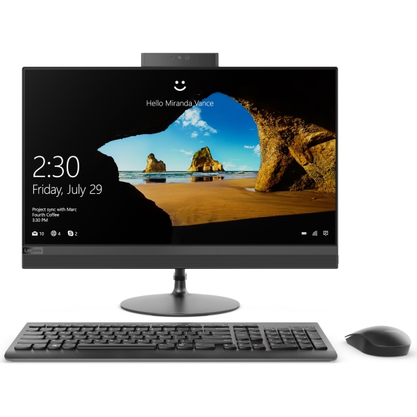 "Моноблок Lenovo IdeaCentre AIO 520-22AST 21.5"" FHD [F0D60051RK] AMD A9-9420/ 4GB/ 1TB/ WiFi/ BT/ DOS/ black изображение 1"