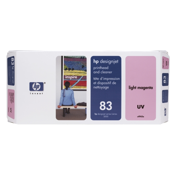 Набор печатающая головка HP 83, светло-пурпурная Light Magenta UV Printhead and Printhead Cleaner (C4965A)